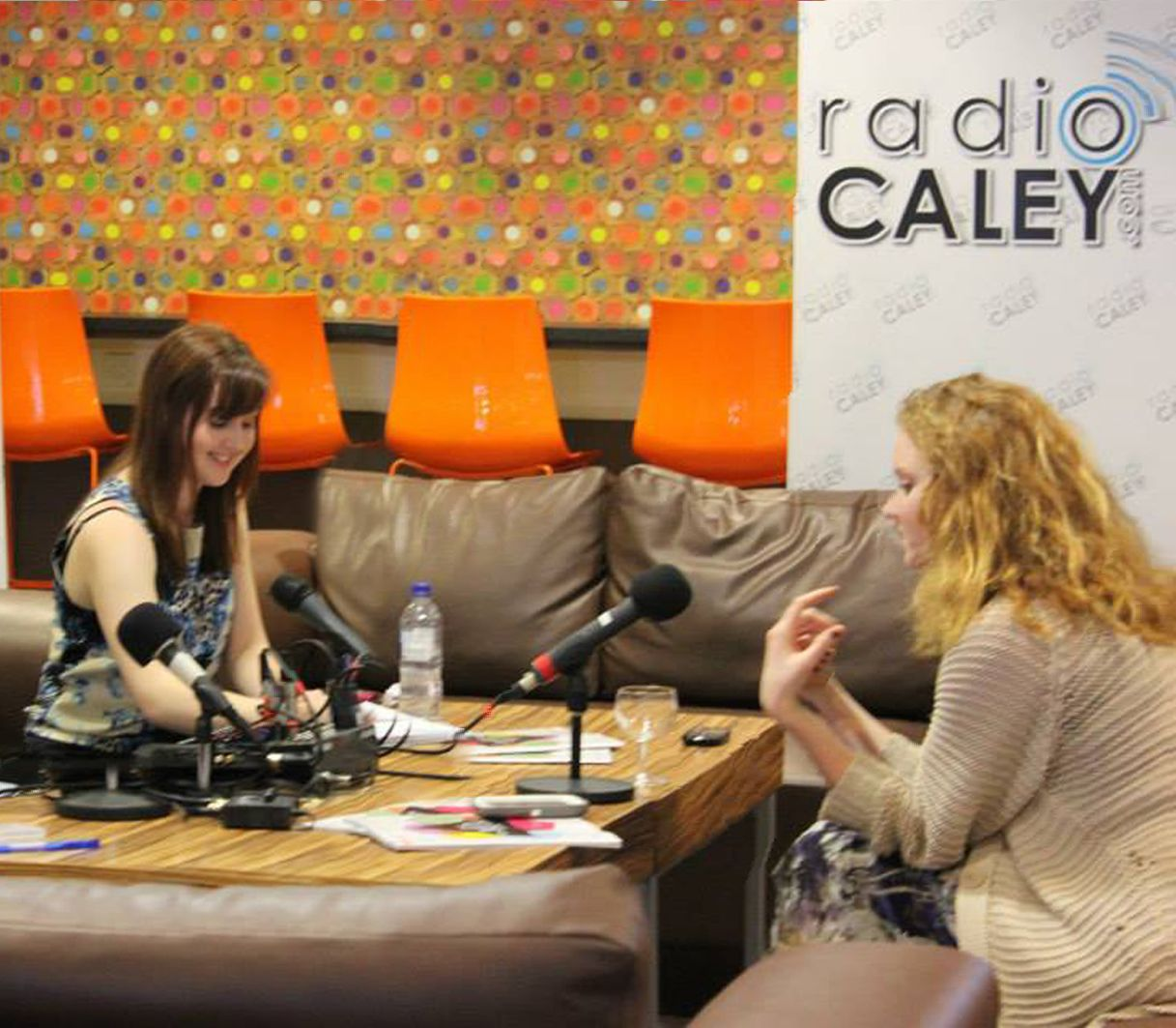 Radio Caley presenter Jemma McGuffie talks to model turned actress Lily Cole at Glasgow Caledonian University.