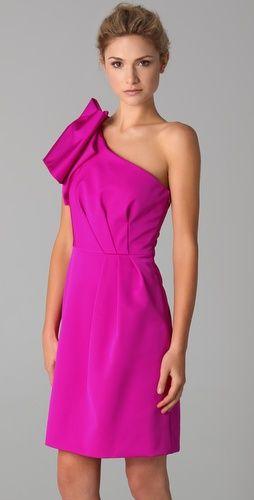 lela rose one shouldered dress. $1395