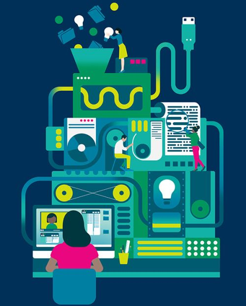 """lucyvigrass: """" Illustrations for Pearson Education commissioned by"""