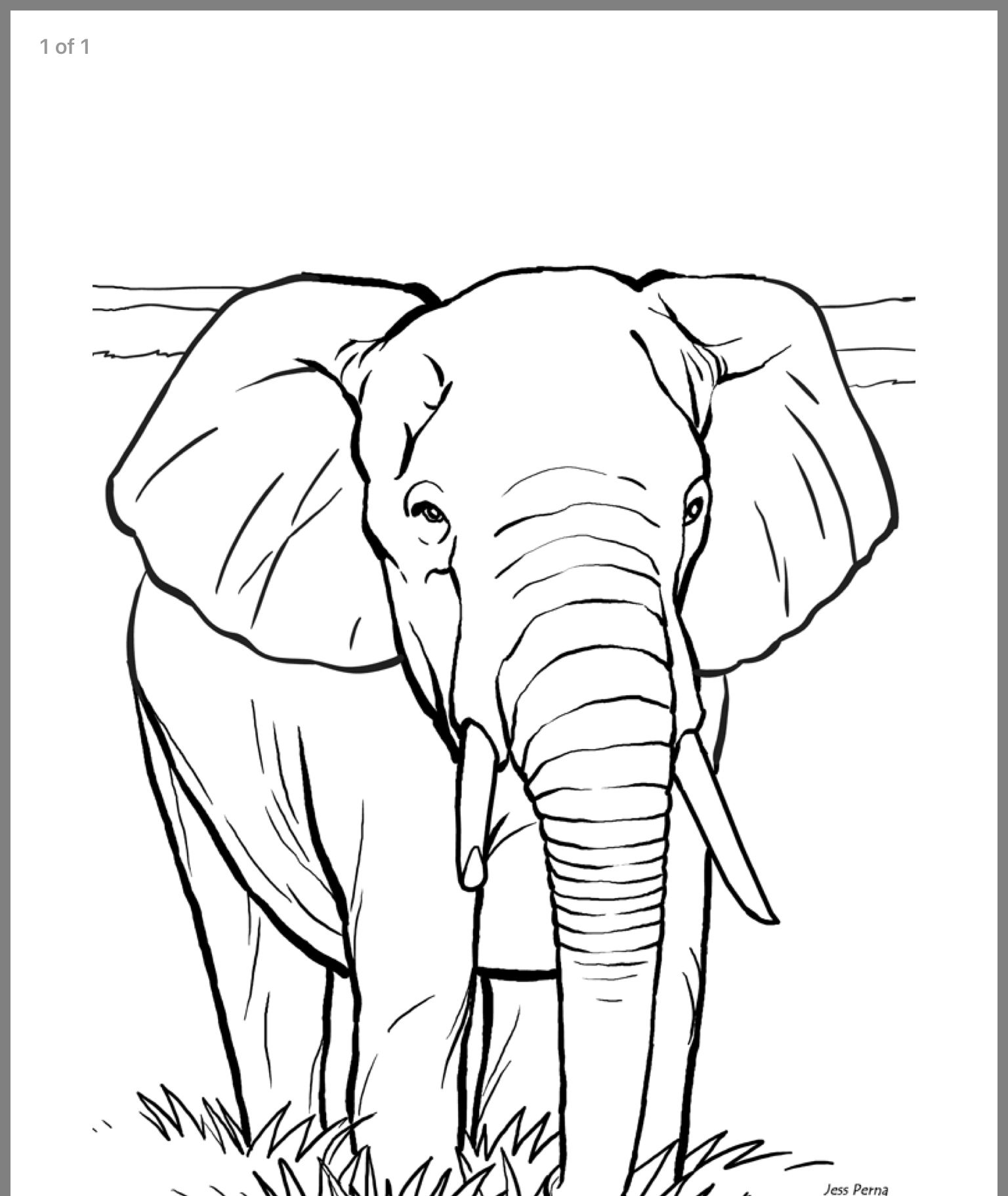 Coloring Pages Elephant Coloring Page Animal Coloring Books