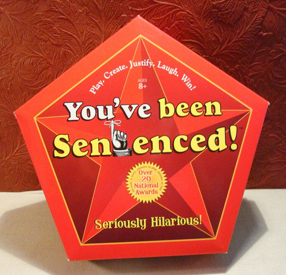 You've Been Sentenced Game McNeill Designs for Brighter Minds Word Game NIB #McNeillDesigns