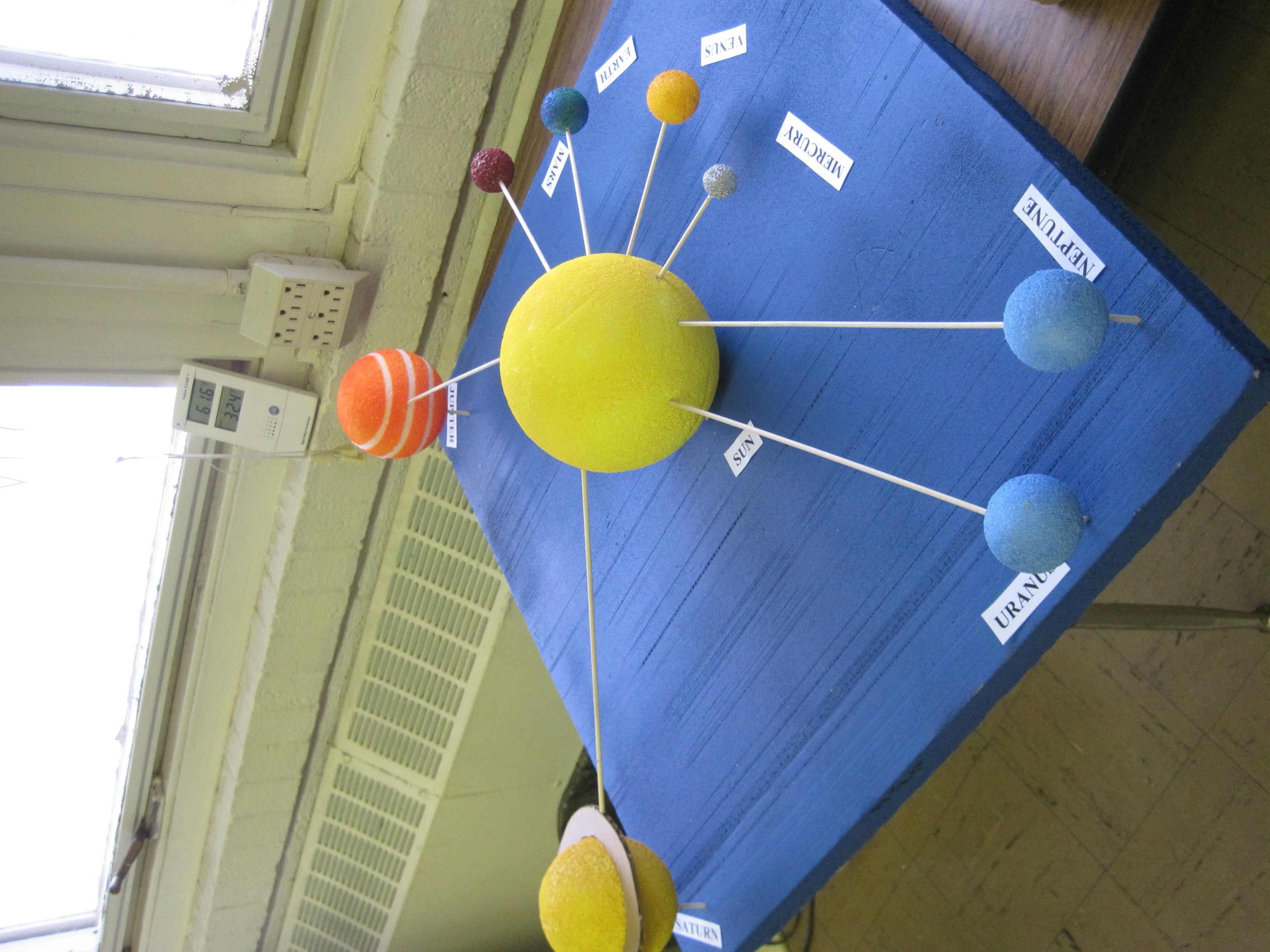 Poster of Solar System for 5th Grade - Pics about space