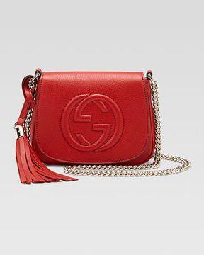 60ecc770 Gucci Soho Leather Chain Crossbody Bag, Red on shopstyle.com | Bag ...