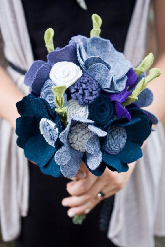 Custom  Wedding Wildflower Felt Bouquet  by munclefredart