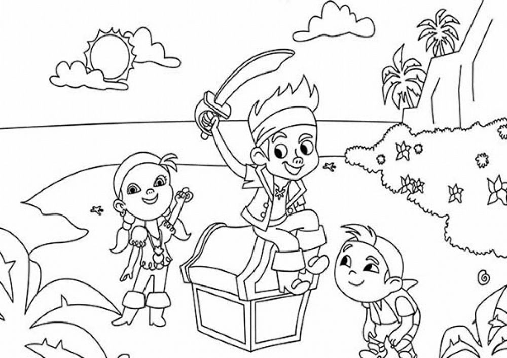 Disney Jake And The Neverland Pirates Coloring Pages Pirate Coloring Pages Cartoon Coloring Pages Coloring Pages