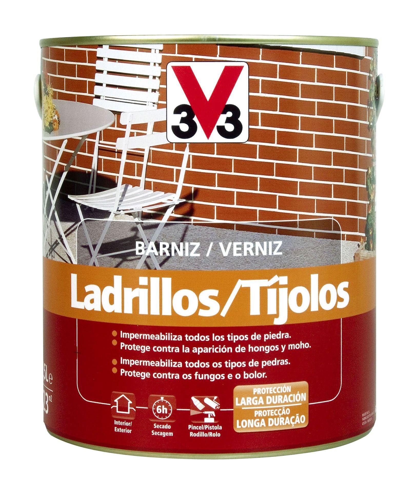 El Barniz Ladrillo V33 Está Specialmente Elaborado Para Ladrillos Y Piedras Ya Sean Naturales O Artificiales Aporta Ladrillo Y Piedra Barniz Ladrillos Vistos