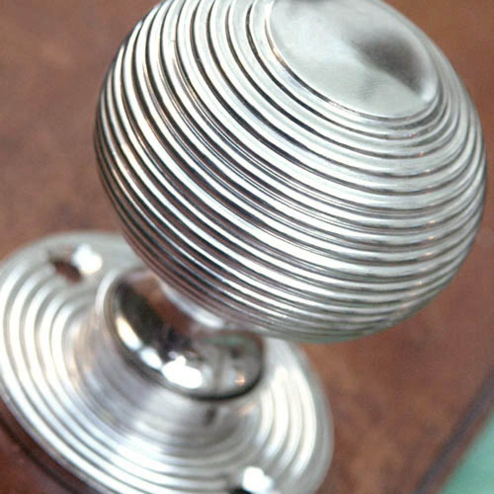 Our Most Popular Design Of Door Knob. Beautiful Heavy Weight Beehive Door  Knobs In A Polished Nickel Finish, Cast From Solid Brass And Weigh Almost 1  Kilo A ...