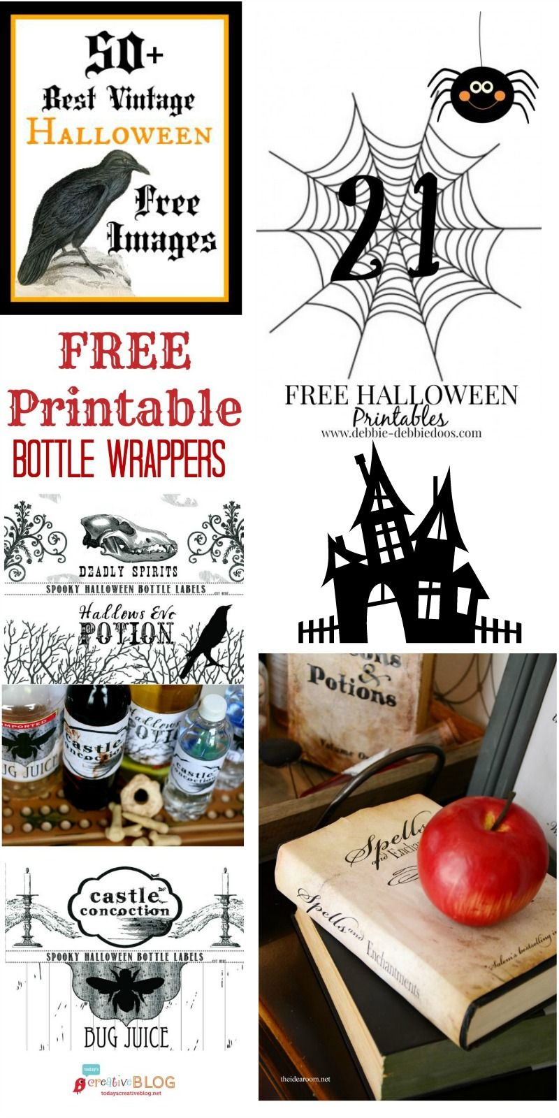Great Last-Minute Halloween Decor - Free Halloween Printables from @graphicsfairy @micmanno @todayscreative @theidearoom