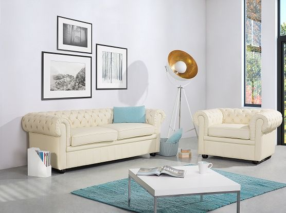 3 seater sofa leather beige chesterfield living room ideas rh pinterest com