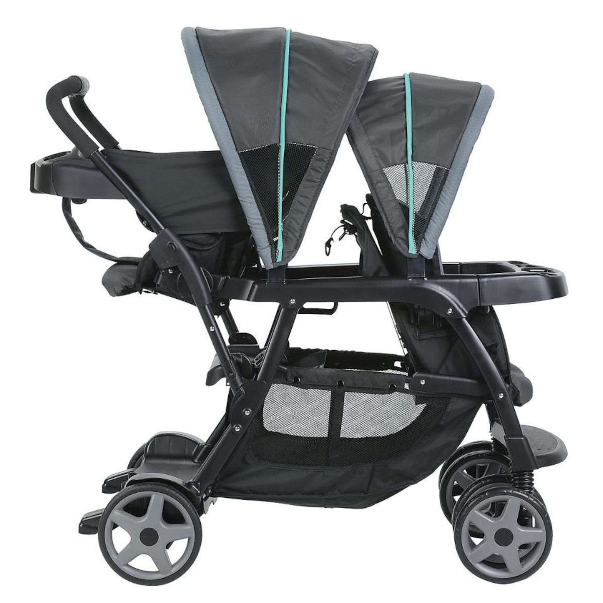 7cf319bde Graco Ready2Grow(TM) Click Connect(TM) Stand and Ride Double Stroller -  Lake Green