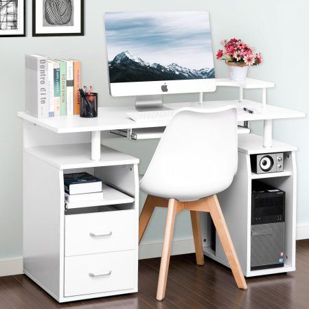 Home White Computer Desk Cheap Office Furniture Small Office Desk