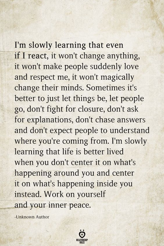 I'm Slowly Learning That Even If I React, It Won't Change Anything