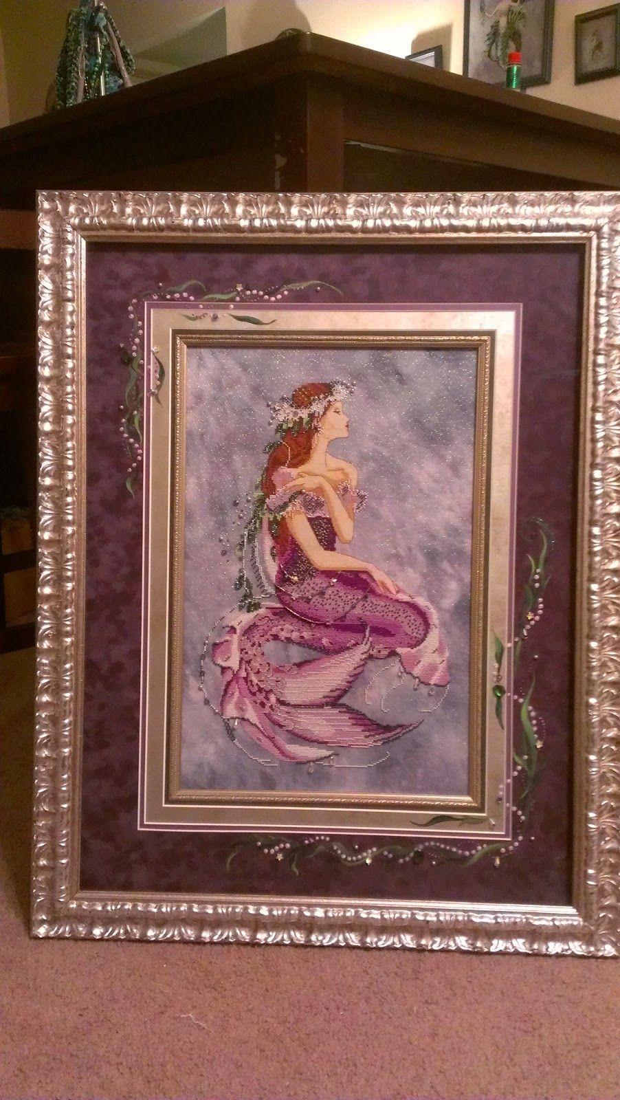 Enchanted mermaid by mirabilia designs on 32 ct moonlit waters enchanted mermaid by mirabilia designs on 32 ct moonlit waters opalescent belfast by under the sea jeuxipadfo Choice Image