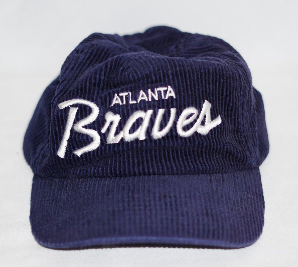 Atlanta Braves Corduroy Mcgregor The Cord Adjustable Baseball Cap Hat Macgregor Atlantabraves Atlanta Braves Baseball Cap Braves