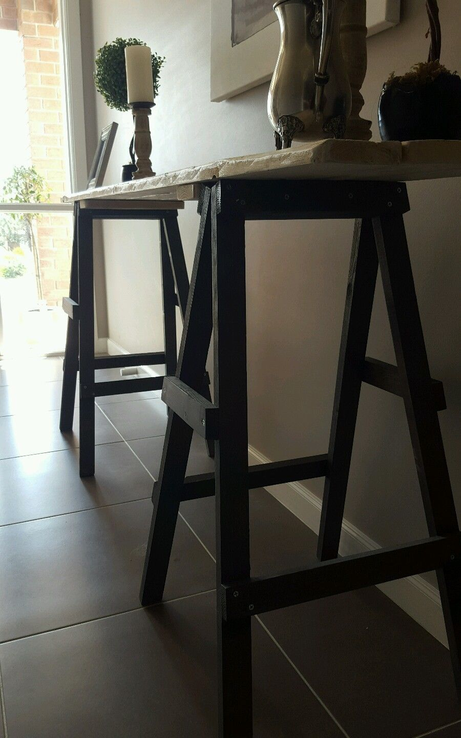 Rustic Trestle Table Hall In Vic Ebay