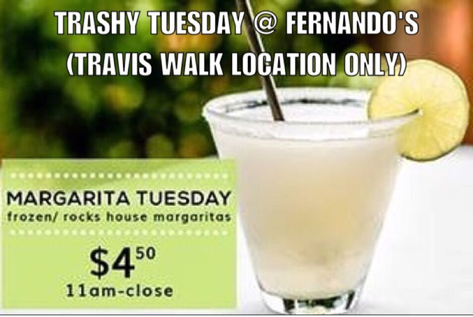 Trashy Tuesday at Fernandou0027s $450 rocks and frozen margaritas - lease application