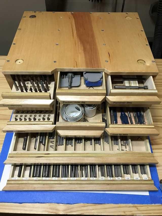 Drill bit chest – modular case