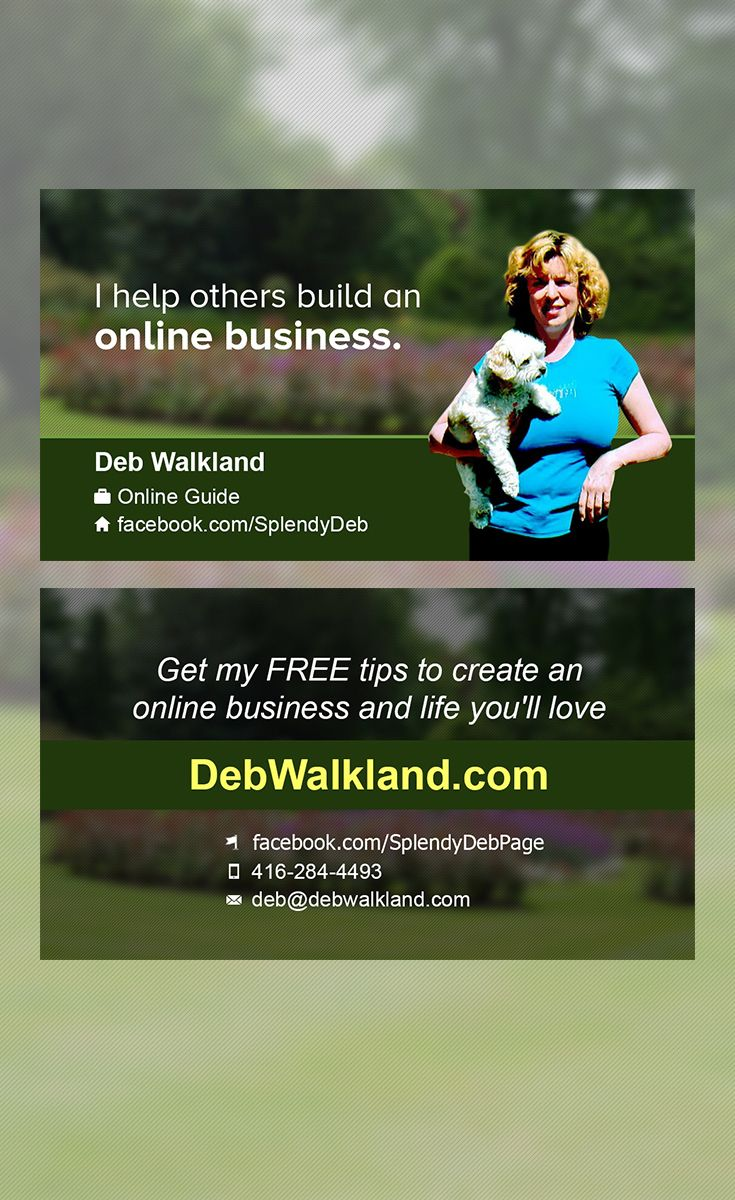 A sample of a business card design that we created for Deb Walkland ...