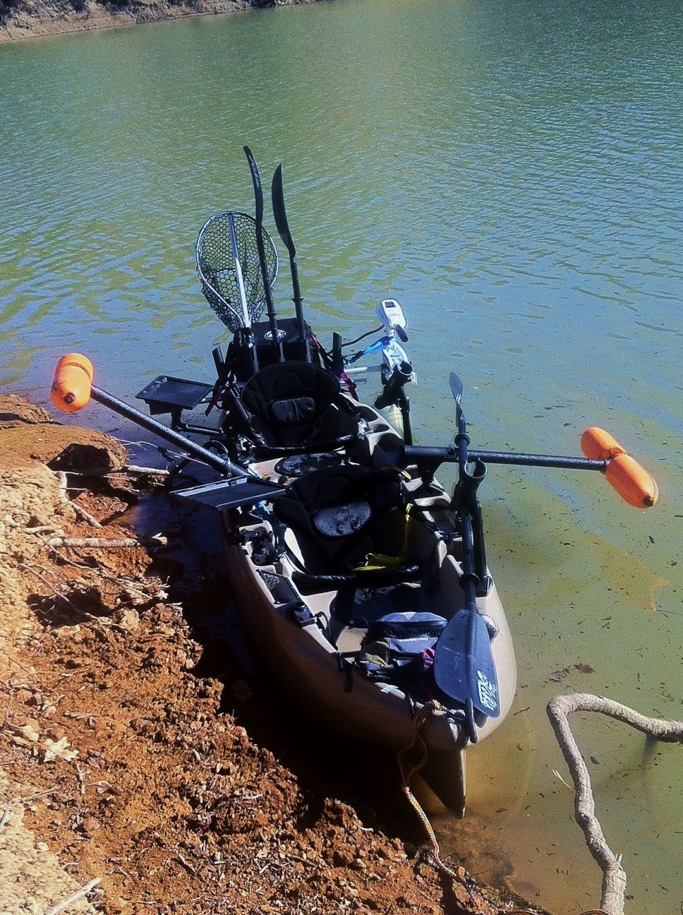 A customer sent this picture to us after adding yak gear for Kayak fishing gear