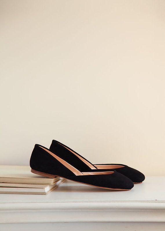 7493f5e8590 The Nubuck Ballet Flats in Black