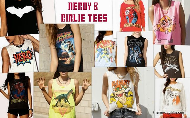 The Nerdy Girlie: Everyday Cosplay: Nerdy & Girlie Tees
