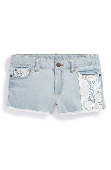 Tucker + Tate Lace Accent Shorts (Big Girls) available at #Nordstrom