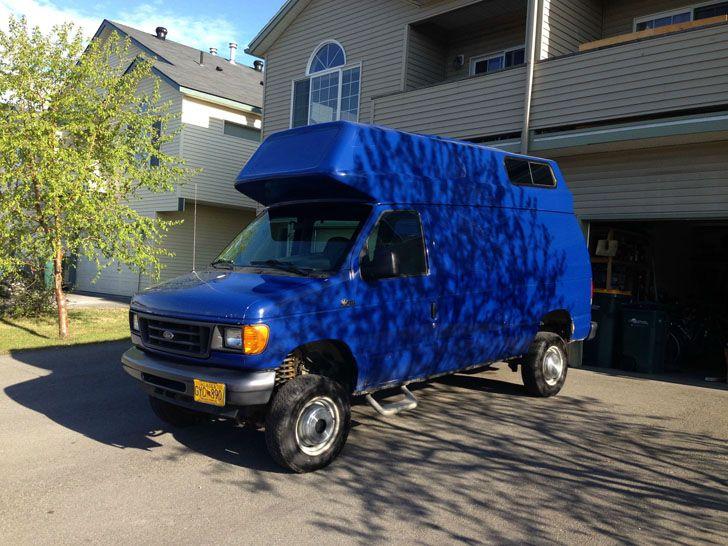 Easy Camper Top Installation On A Ford Van Ford Van Camper Van