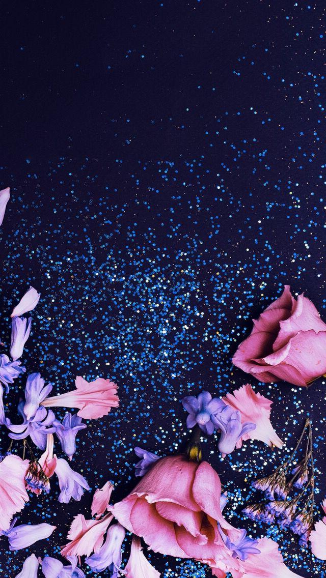 Sparkle Flowers Flower Wallpaper Glitter Wallpaper Floral Wallpaper Cool flower wallpaper images
