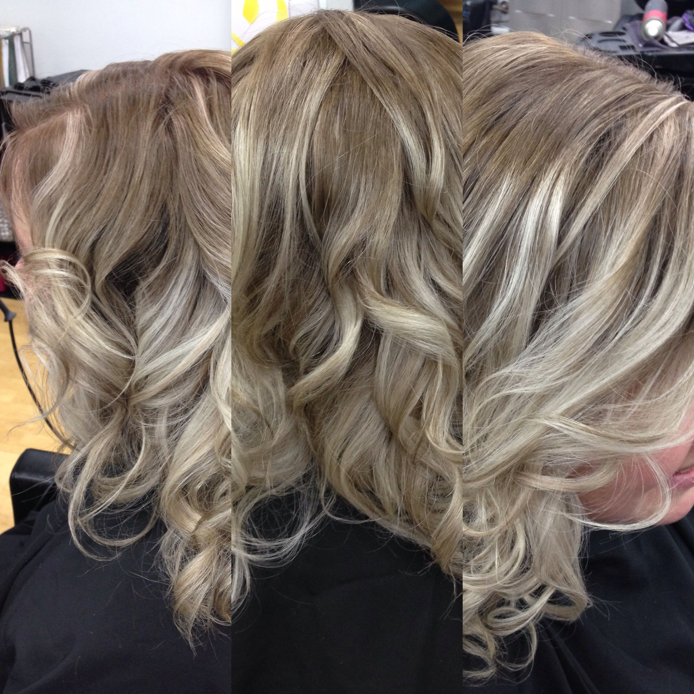 Goldwell Color Went From Platinum Blonde To Balayage Color