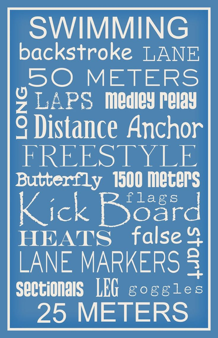 Subway Art Sign Swimming Typography Sports Print By Paperbleu Swimming Quotes Swim Coach Gifts Swim Coach