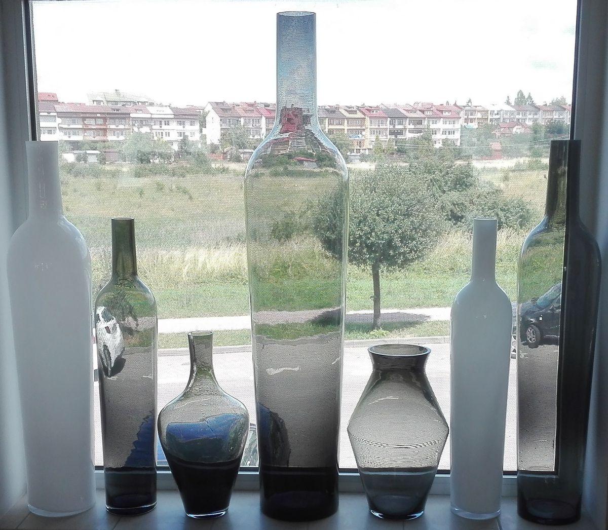 Wazony Szklane Dekoracyjne Wysokie Przezroczyste W