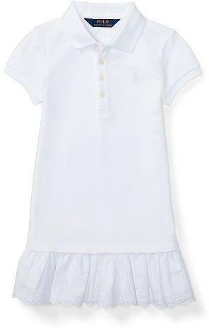 Ralph Lauren 2-6X Ruffled-Hem Polo Dress
