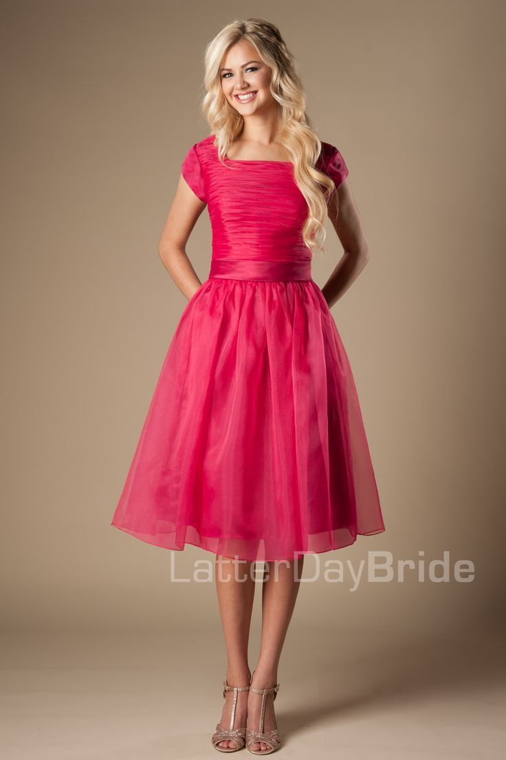 Homecoming Dresses 2018 Latter Day Bride modest prom dress. pink ...