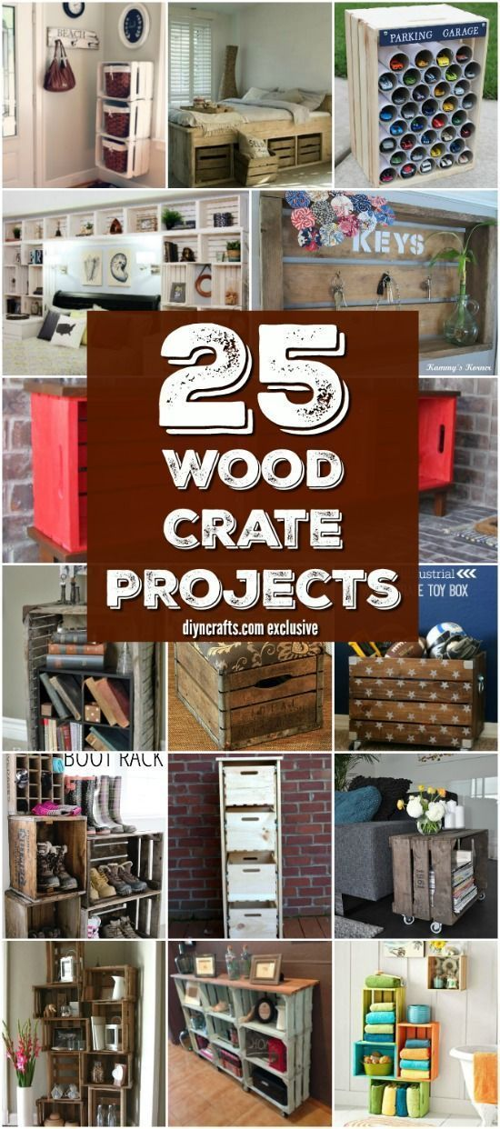 25 Wood Crate Upcycling Projects For Fabulous Home Decor - Organize and decorate your home using nothing but wood crates! Try making someone these wood crate projects! You can find anything from home decor to kids play car garage! These wood crate projects are the best diy ideas if you have extra wood crates! #diyncrafts #wood #woodcrate #diy #crafts #homedcor