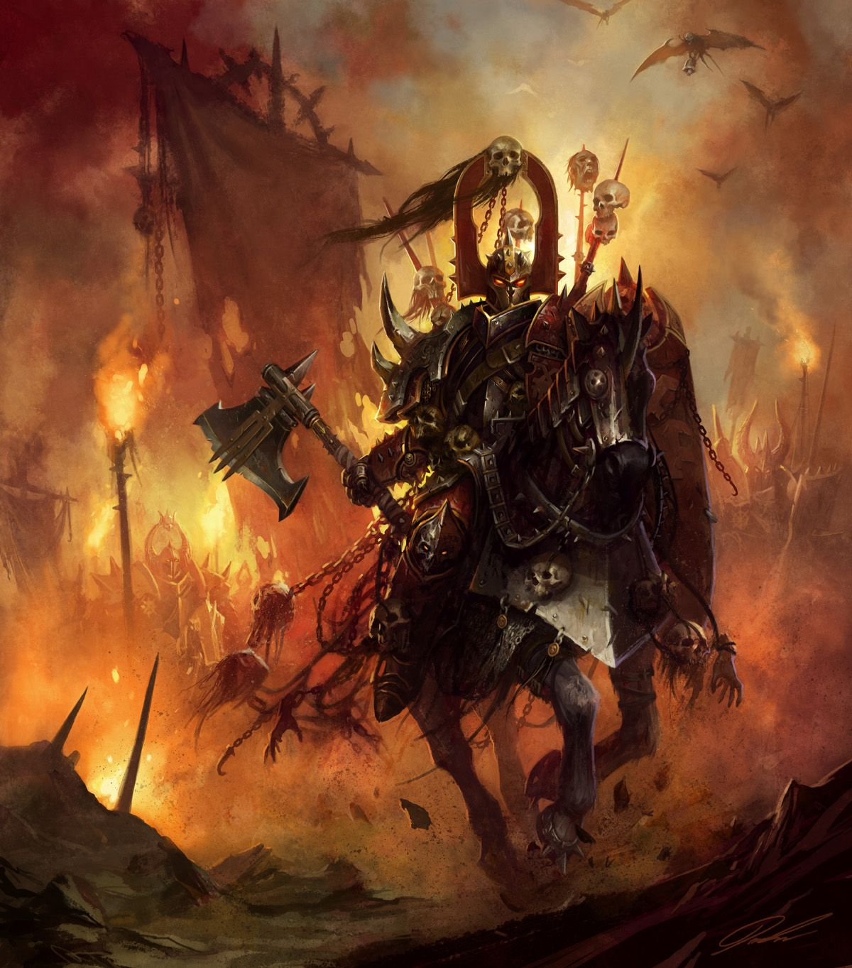 Battle Horses Paintings | Omens of War | Art and Cookies ...