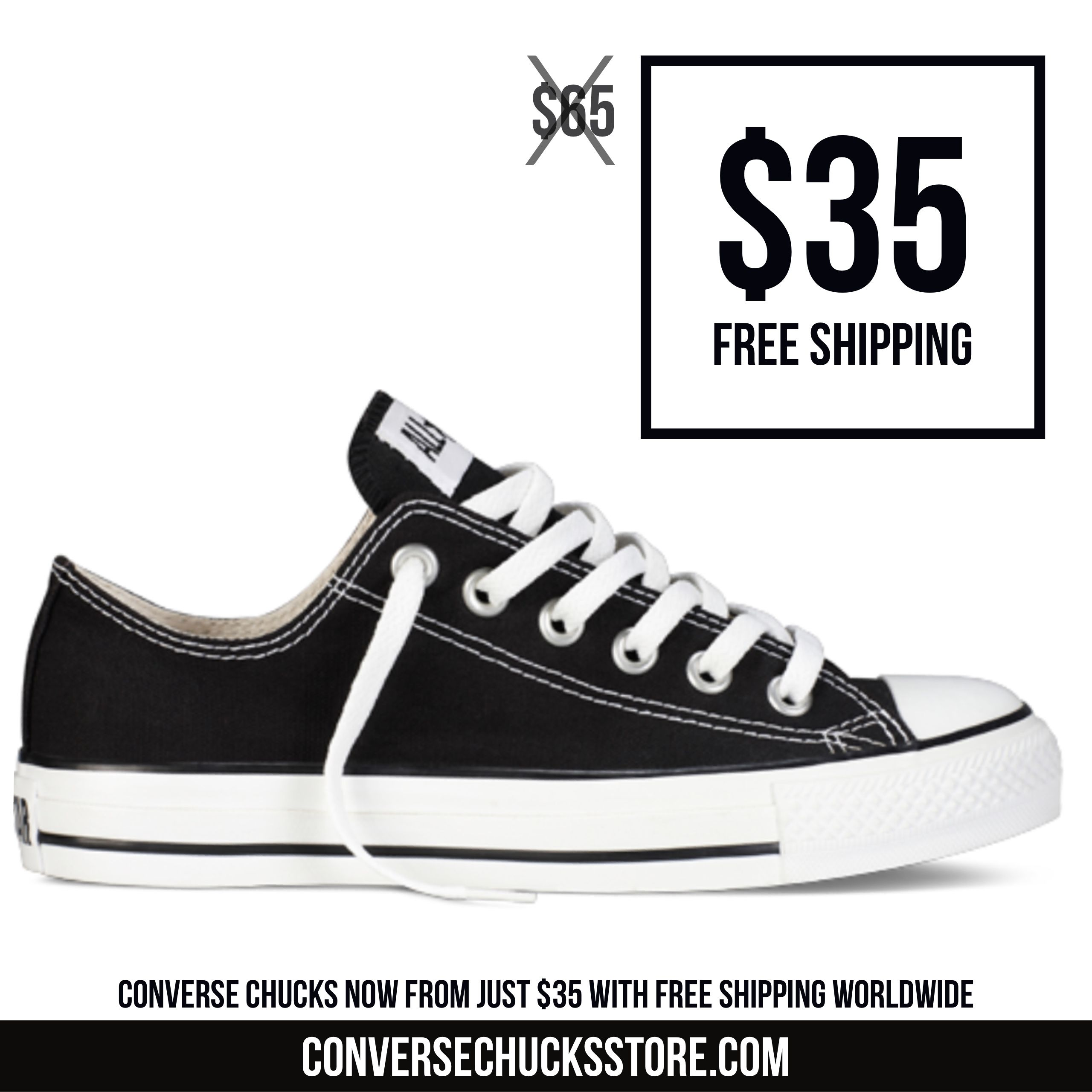 e9acf7f84ab3 Converse Chuck Taylors from  35 with free worldwide shipping. Order now on our  website