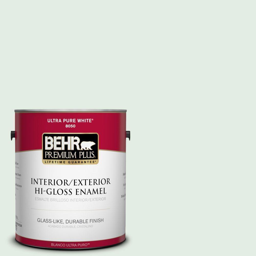 BEHR Premium Plus 1-gal. #460C-2 Spearmint Stick Hi-Gloss Enamel Interior/Exterior Paint