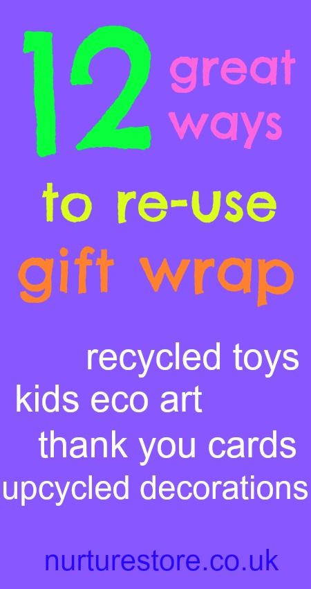 Great ways to re-use gift wrap!