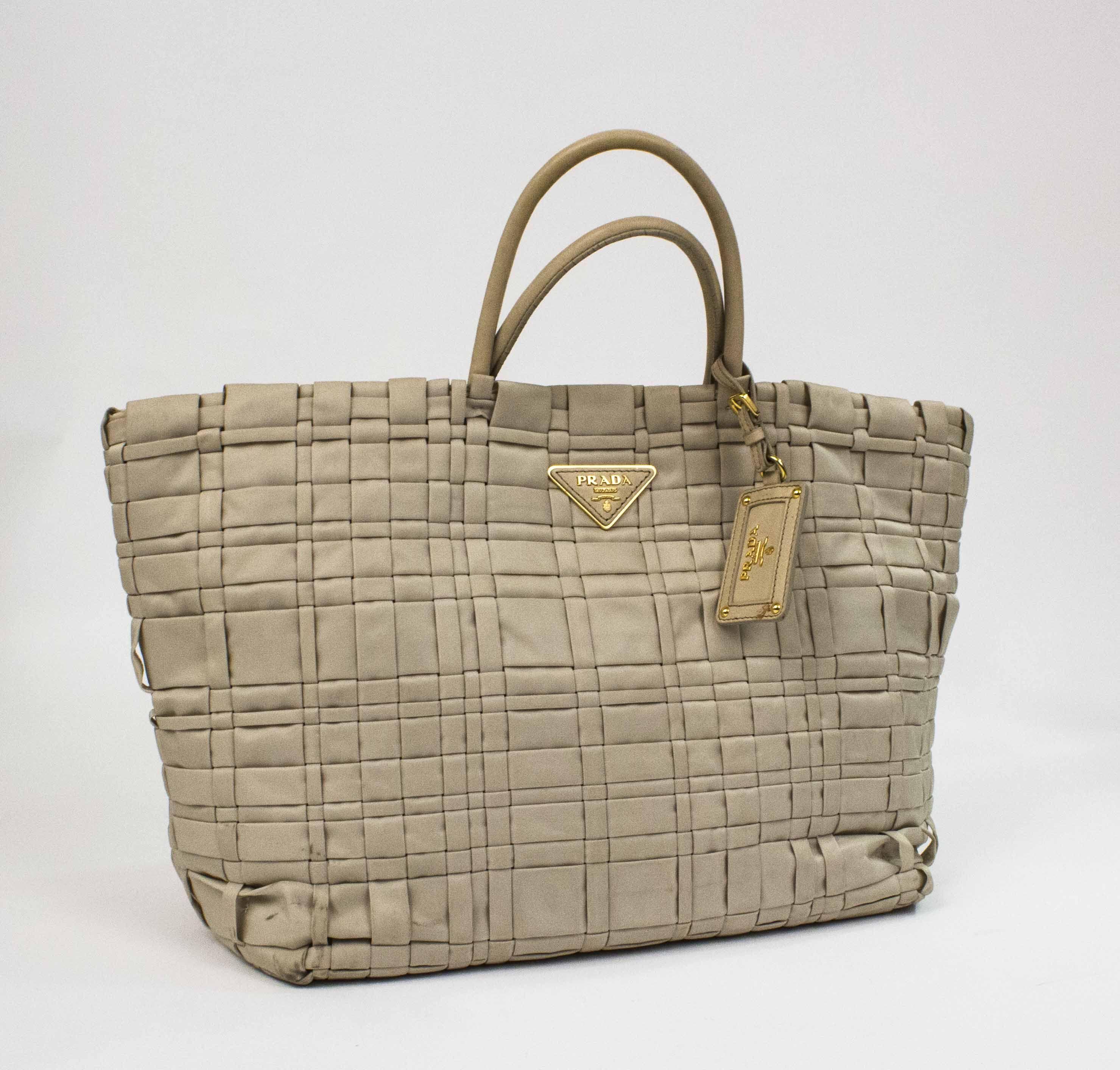 f154609fa4de ... 50% off prada beige tessuto weave tote. pandora price 249 96f4c f9b8d