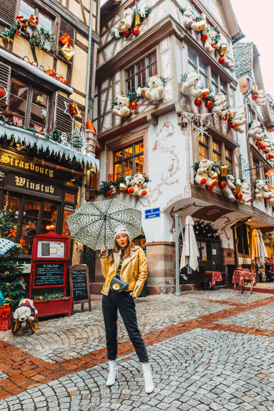 The Magic Of Christmas Truly Comes To Life In The Fairytale Town Of Colmar In France The Historic Setting And B Christmas In Europe Colmar Greece Travel Guide