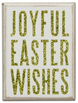 Joyful Easter Wishes White Box Sign 3x4 from Barnes & Noble