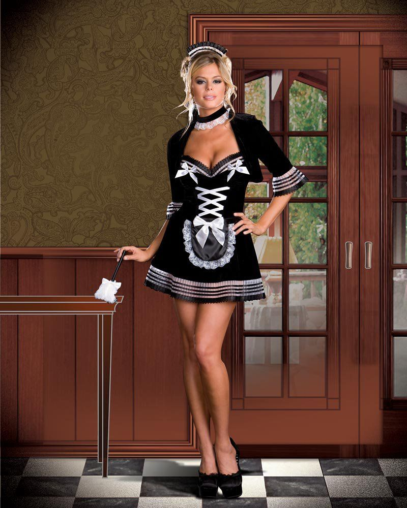 928aac78d6f french maid costume | ... Velvet Sexy French Maid Costume French ...