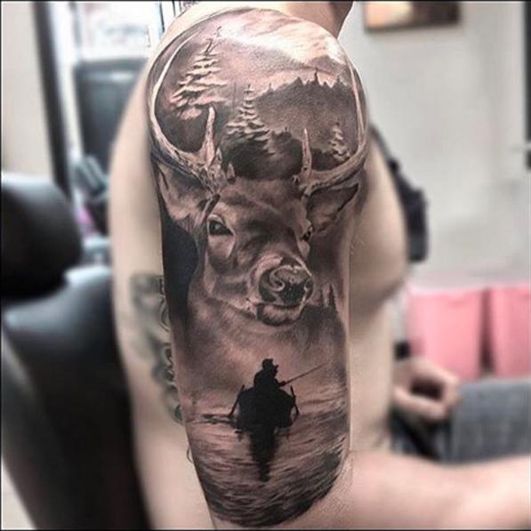 Inked Magazine Inkedmag Instagram Photos And Videos Tattoos For Guys Badass Hunting Tattoos Badass Tattoos