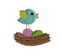 Mini Bird in Nest - 3 Sizes! | What's New | Machine Embroidery Designs | SWAKembroidery.com Sew Cha Cha