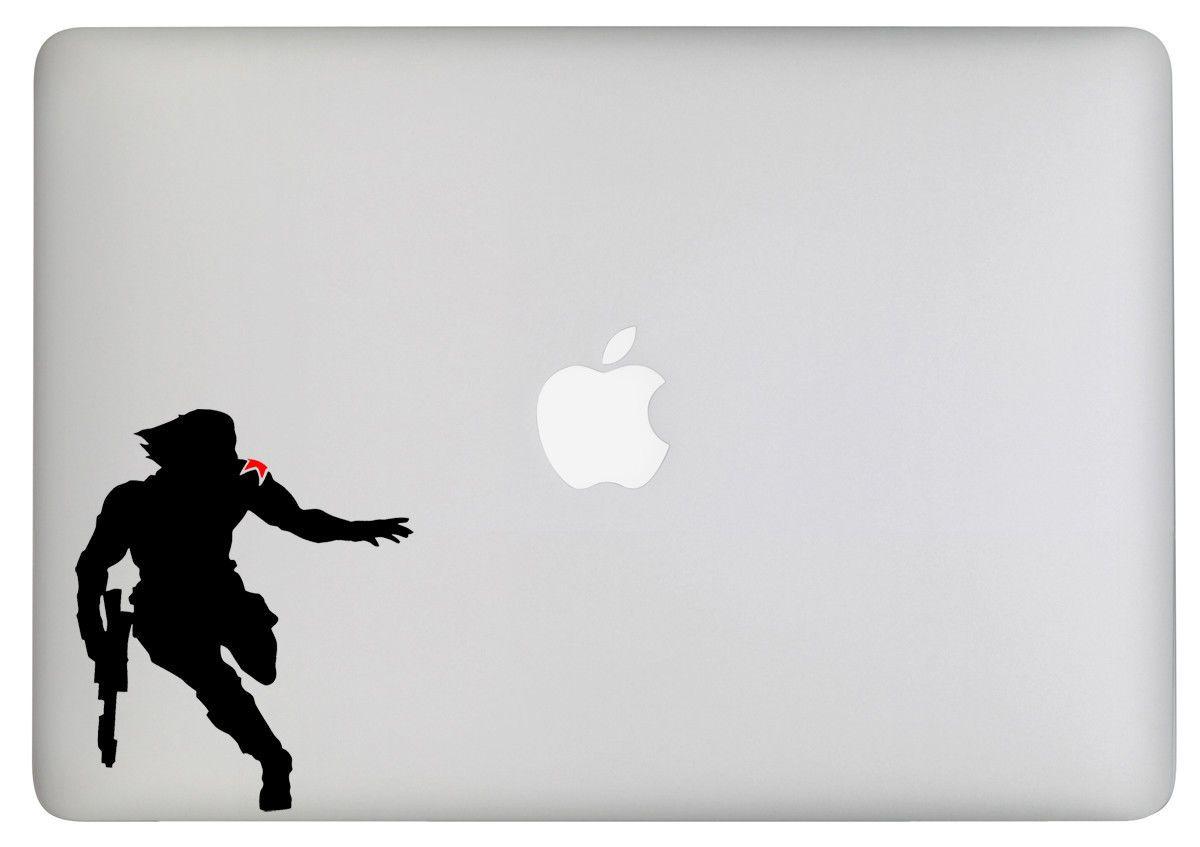 Winter Soldier Vinyl Decal Sticker Laptop Macbook Car Bucky Marvel Avengers Ebay Winter Soldier Bucky Bucky Soldier Silhouette [ 847 x 1200 Pixel ]