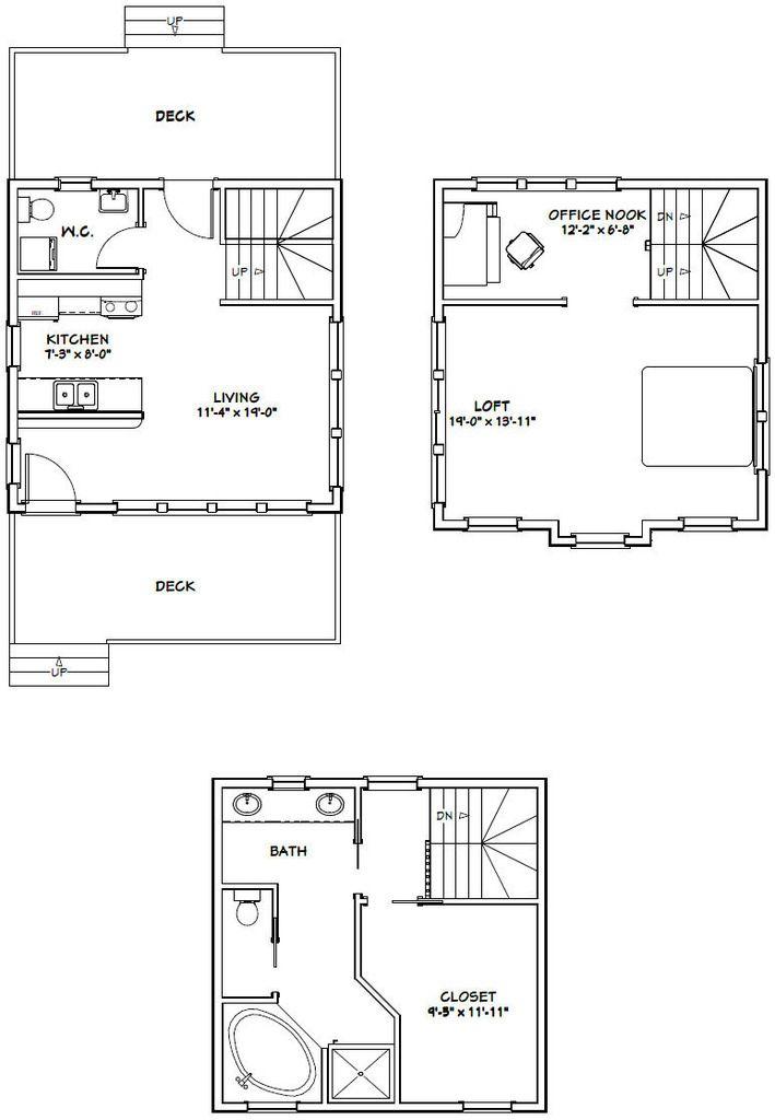 20x20 Tiny House 20x20h12b 1 067 Sq Ft Excellent Floor Plans Shed Plans Floor Plans Tiny House Plans