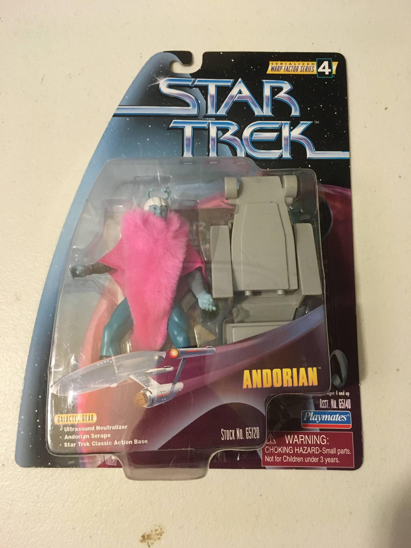 "Andorian Vintage Star Trek Action Figure on Card 5"" Playmates Warp Series 4"