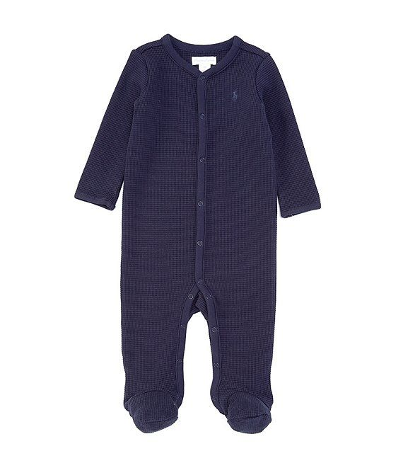 Photo of Ralph Lauren Childrenswear Baby Boys 3-9 Months Long-Sleeve Waffle-Knit Footed Coverall