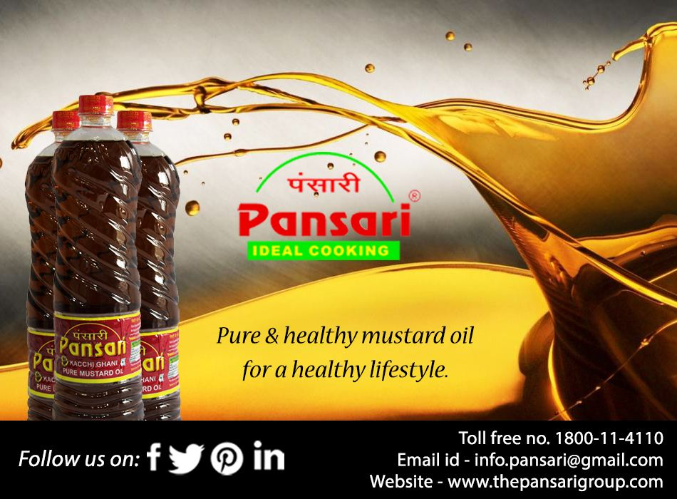 Healthy oil for a healthy lifestyle! #mustard #oil #pure #organic #healthy #fitness