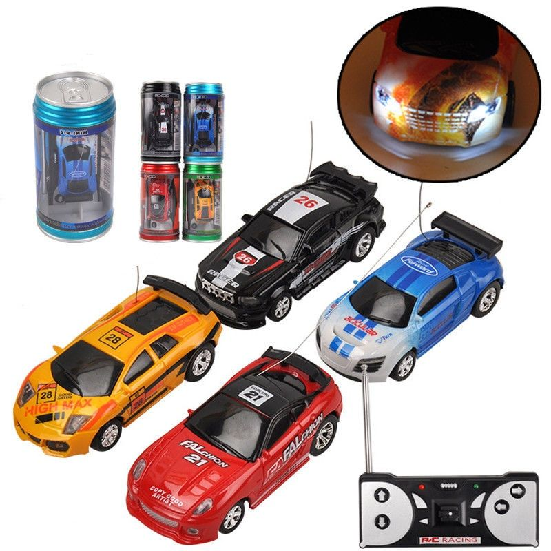 Hot Sale Coke Can Mini Rc Car Radio Remote Control Micro Racing Car 4 Frequencies Birthday Gifts For Kids Remote Control Cars Birthday Gifts For Kids Car Radio